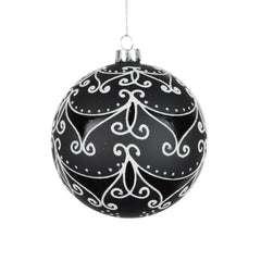Vickerman 4 in. Black Glass Ball Christmas Ornament