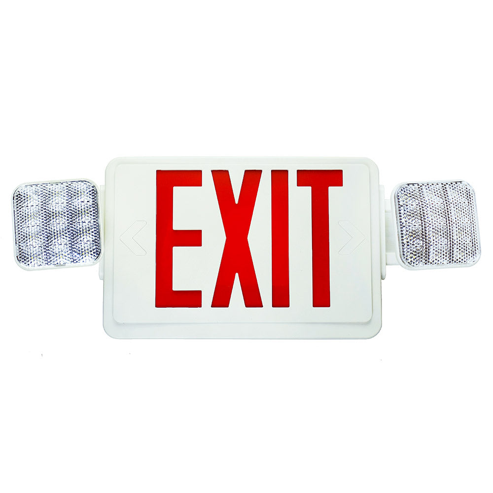 NICOR Remote Capable LED Emergency Exit Sign with Dual Adjustable LED Heads