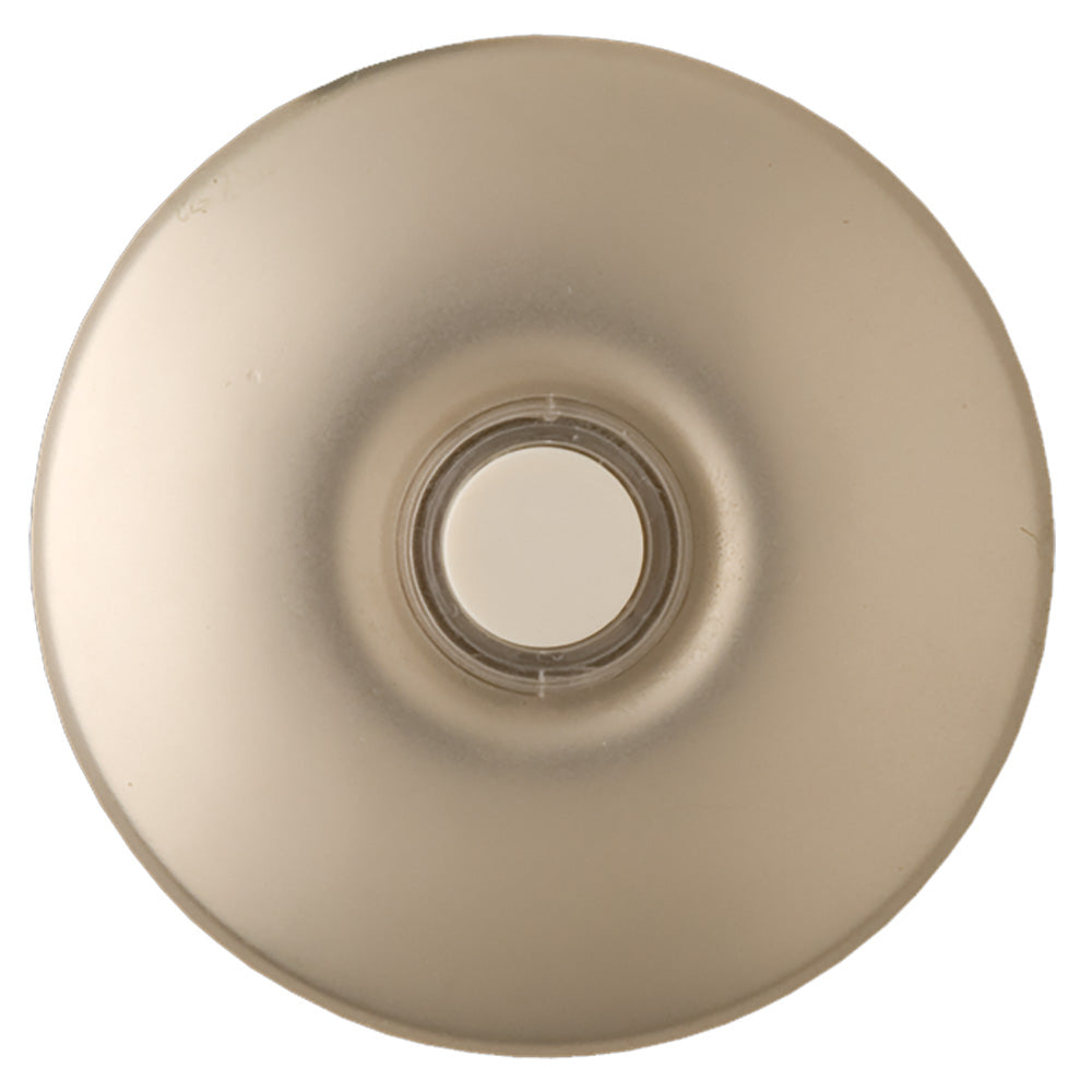 NICOR Lighted Stucco Button for Prime Chime Door Bell Kit, Brushed Nickel