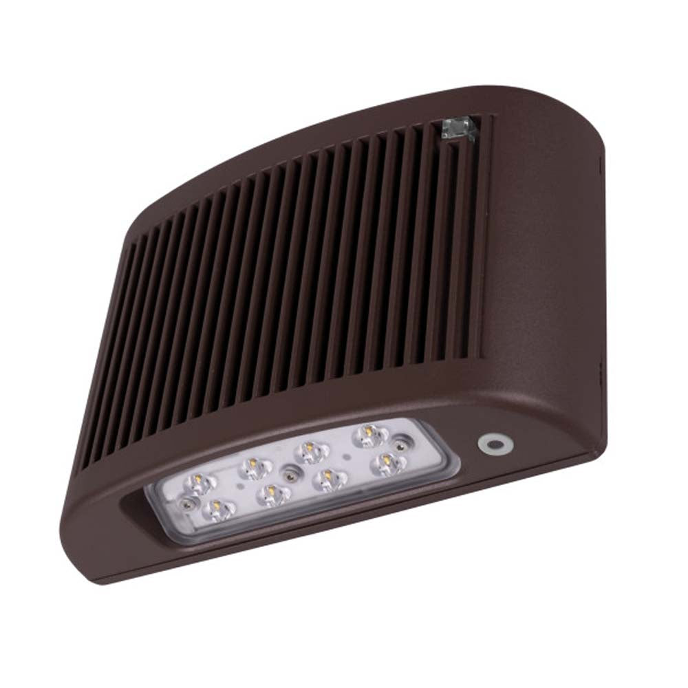 EOF Series Bronze Outdoor LED Full Cutoff Emergency Wall Pack w/ Photocell 3000K