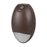 Bronze Outdoor LED Teardrop Emergency Wall Pack with Photocell 2700K