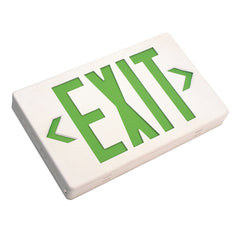 NICOR LED Emergency Exit Sign with Green Lettering