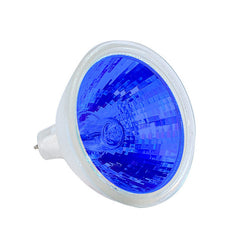 EXT/B BulbAmerica MR16 50w 12v Blue Color w/ Front Glass GU5.3 Halogen Bulb