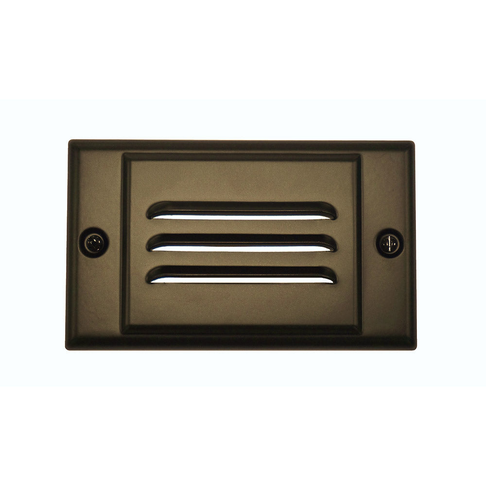 Oil-Rubbed Bronze Horizontal Faceplate for NICOR LED Step Light (STP-10-120-WH)