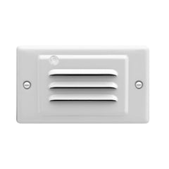 White Horizontal Faceplate for NICOR LED Step Light with Photocell