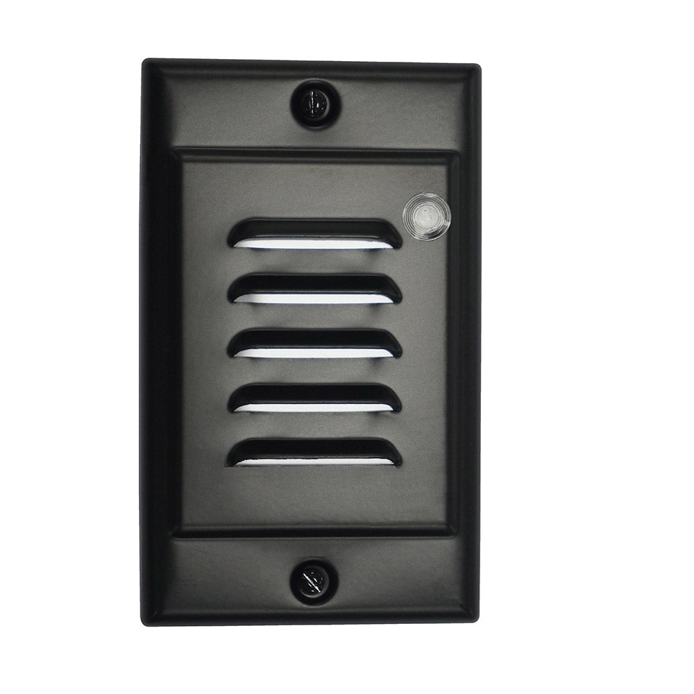 Black Vertical Faceplate for NICOR LED Step Light with Photocell