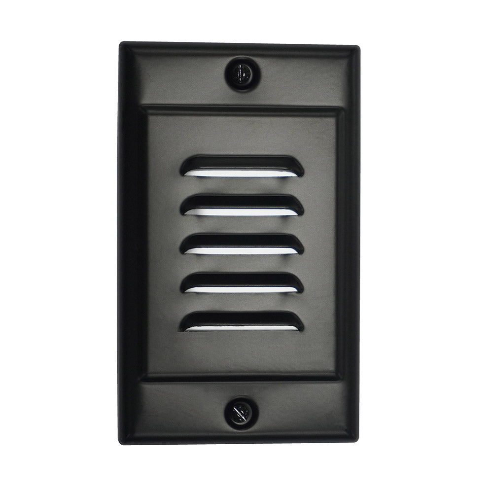Black Vertical Faceplate for NICOR LED Step Light (STP-10-120-WH)