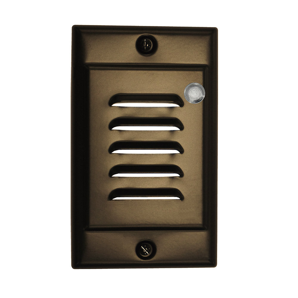 Oil-Rubbed Bronze Vertical Faceplate for NICOR LED Step Light with Photocell