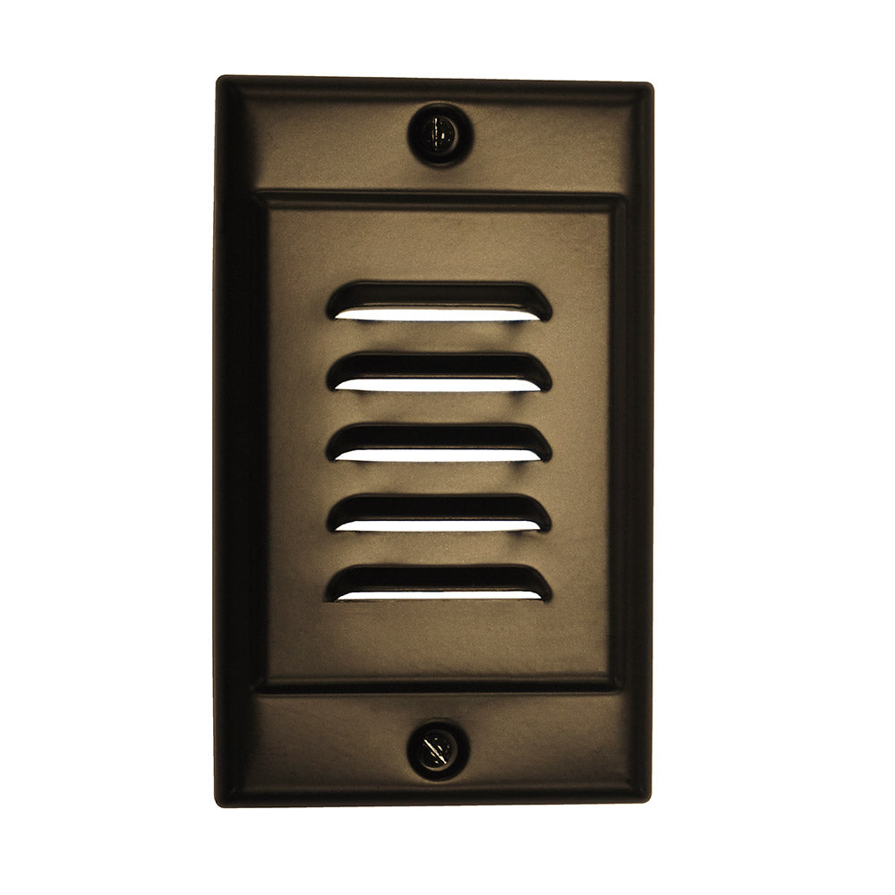 Oil-Rubbed Bronze Vertical Faceplate for NICOR LED Step Light (STP-10-120-WH)