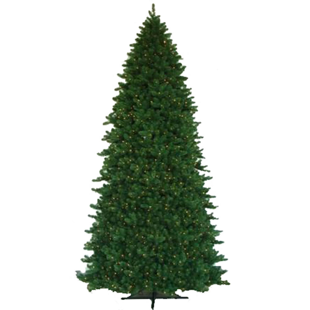 Vickerman 15Ft. Green 9949 Tips Christmas Tree 3500 Warm White Wide Angle LED