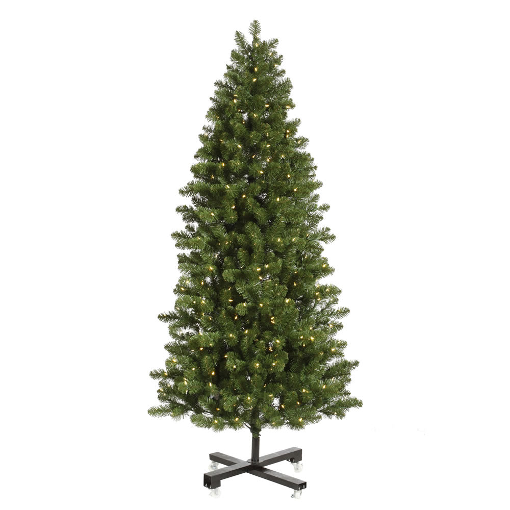 Vickerman 7.5Ft. Green 1182 Tips Christmas Tree 650 Warm White Wide Angle LED