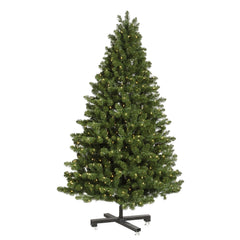 Vickerman 6.5Ft. Green 1253 Tips Christmas Tree 650 Warm White Wide Angle LED