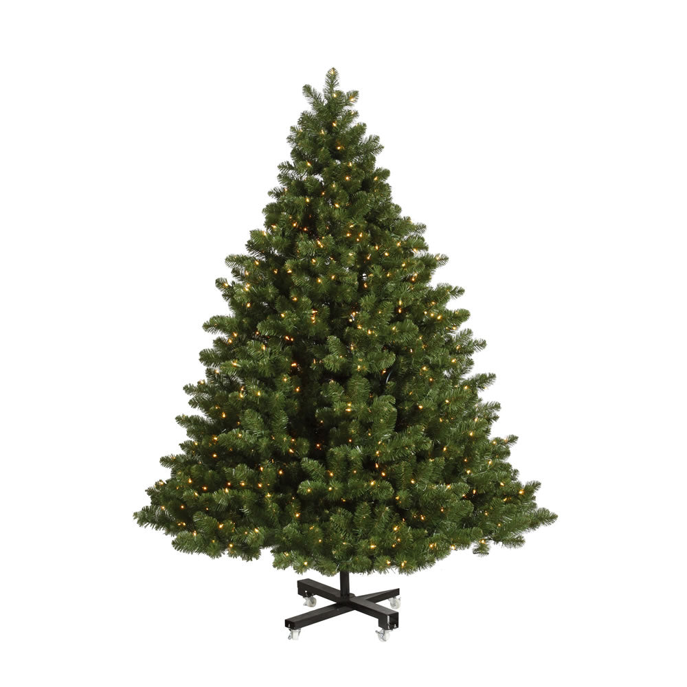 Vickerman 9.5Ft. Green 3203 Tips Christmas Tree 1400 Clear Dura-Lit