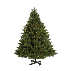 Vickerman 9.5Ft. Green 3203 Tips Christmas Tree 1400 Warm White Wide Angle LED