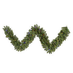 "9' x 14"" Grand Teton Garland 100 Multi Color LED"