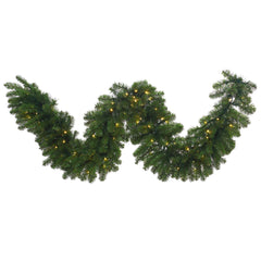 "9' x 18"" Grand Teton Garland 100 Warm White LED"