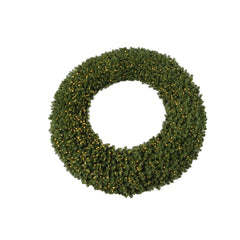 Vickerman 300in. Green 16200 Tips Wreath 4800 Warm White Wide Angle LED