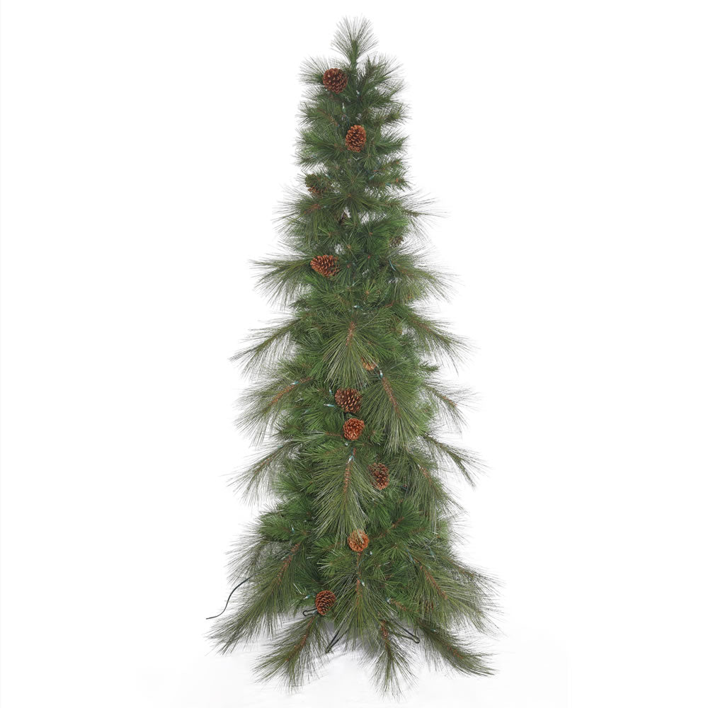 45Ft. Big Cascade Pine Slim Green Christmas Tree 162 Mixed Tips Pinecones