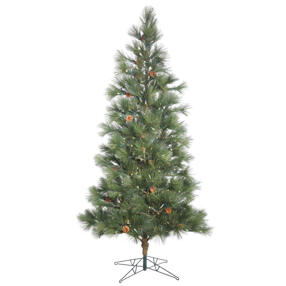 10.5Ft. Redmond Spruce Full Green Christmas Tree 1000 Warm White Led Lights