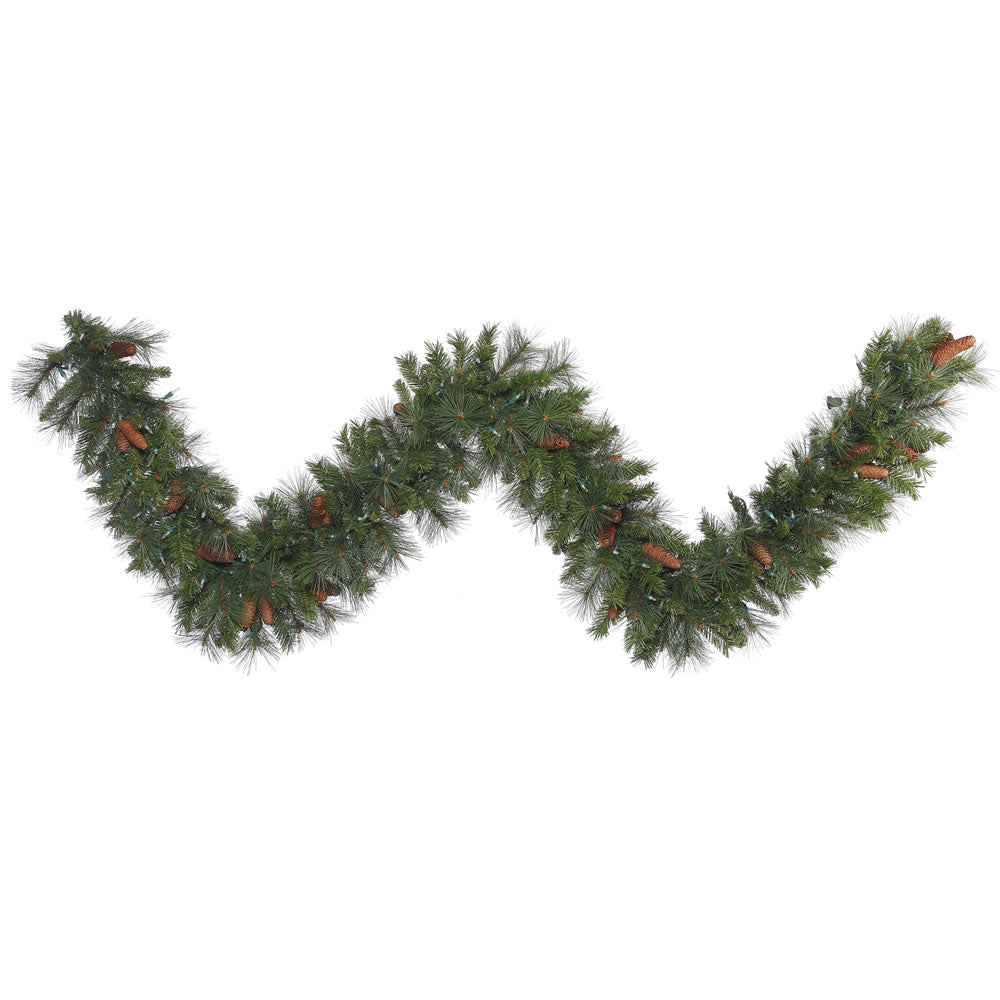 9Ft. X 20in. Savannah Mixed Pine/Cones Garland 240 Tips