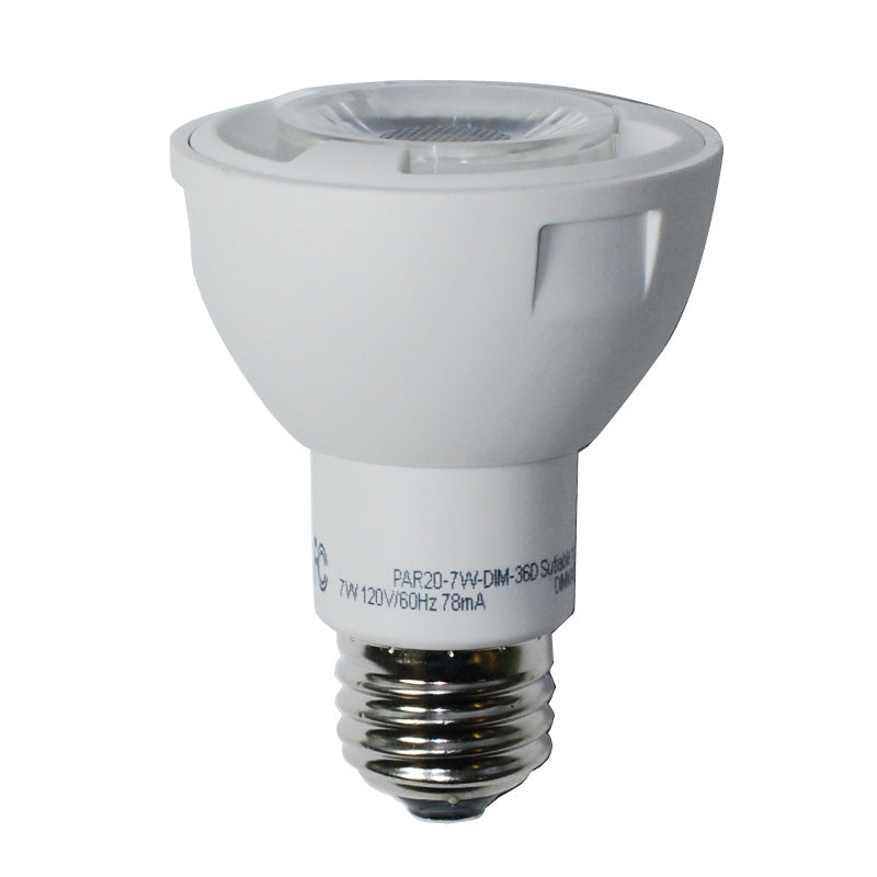High Quality LED 7w Waterproof Dimmable PAR20 Cool White Light Bulb - 50w Equiv.