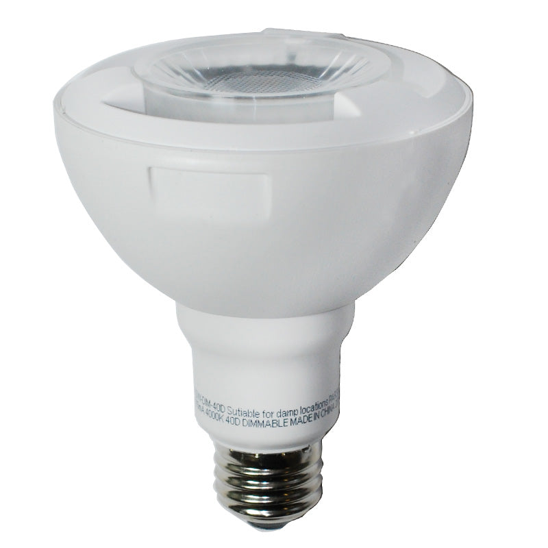 High Quality LED 11.5w Dimmable PAR30 Cool White Flood Light Bulb - 60w Equiv.