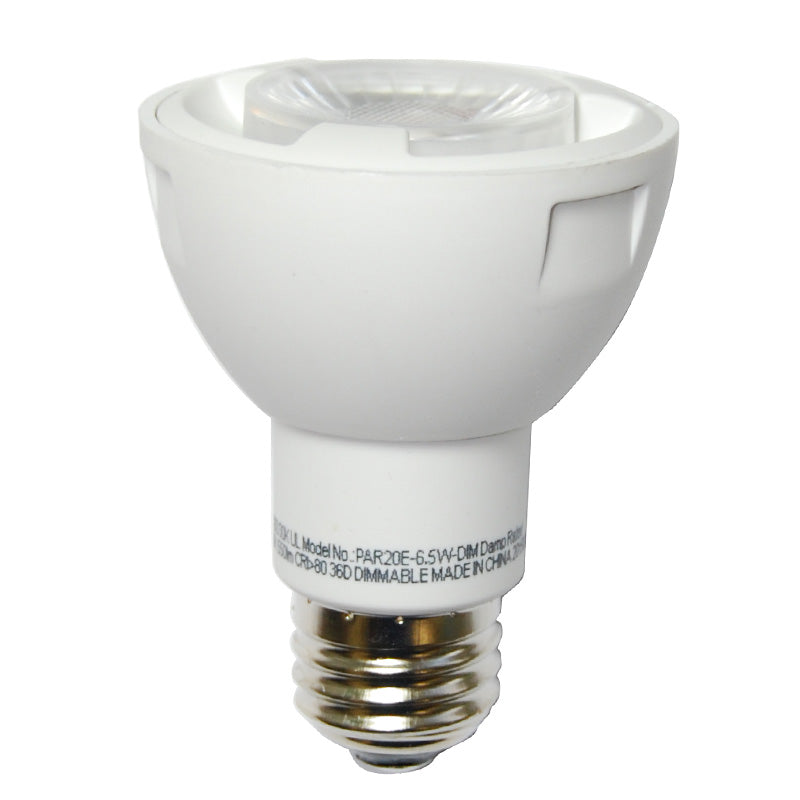 High Quality LED 6.5w Waterproof Dimmable PAR20 Warm White Light Bulb 50w Equiv.