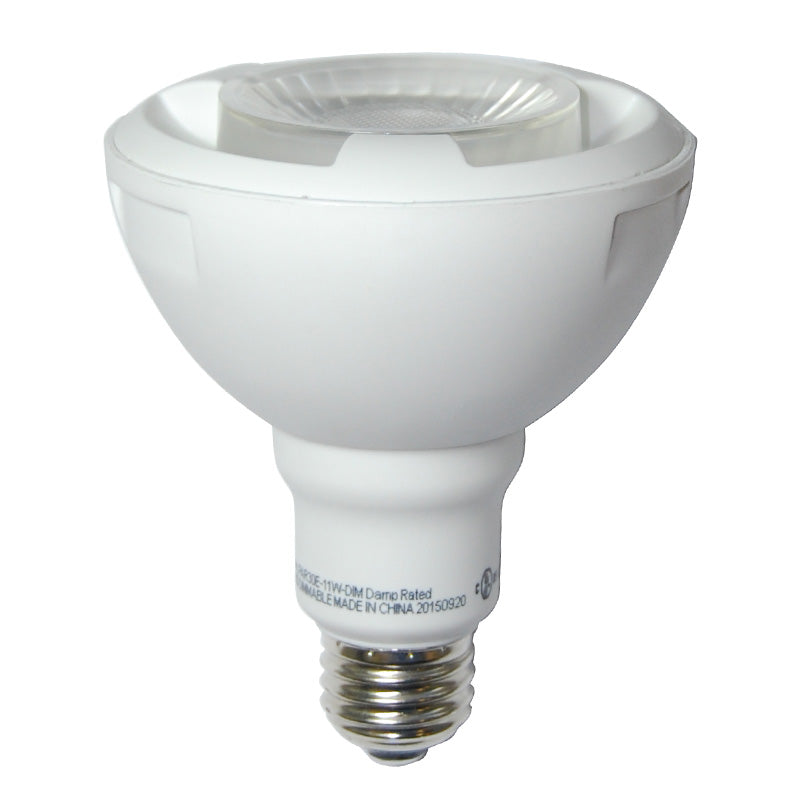 High Quality LED 11w Dimmable PAR30 Warm White Flood Light Bulb - 60w Equiv.