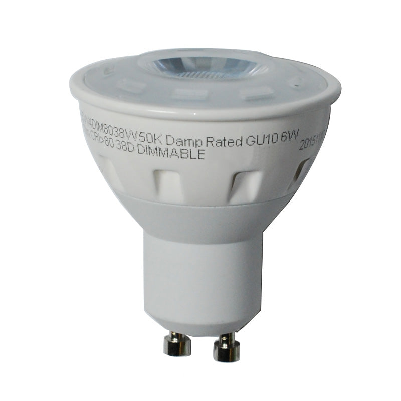 High Quality LED 6W GU10 MR16/PAR16 Daylight 350LM Flood Light Bulb