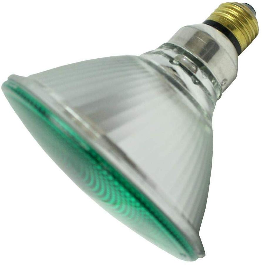 SYLVANIA 16665 Green 90W PAR38 120V Halogen Light Bulb
