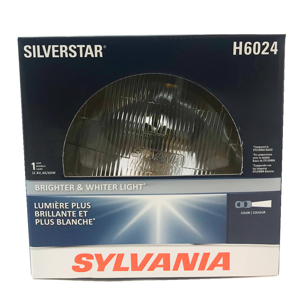 "SYLVANIA H6024 2D1 SilverStar High Performance Halogen Headlight 7"" Round PAR56"