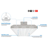NICOR 100 Watt LED High Bay in 4000K - BulbAmerica