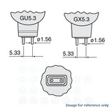 EXT/R bulb Platinum MR16 50w 12v Red Color w/ Front Glass GU5.3 Halogen Light Bulb - BulbAmerica