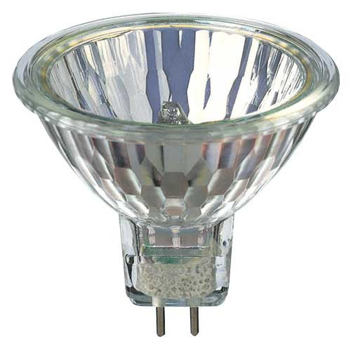USHIO 20w 24v Spot SP12 MR16 w/ Front Glass halogen light bulb