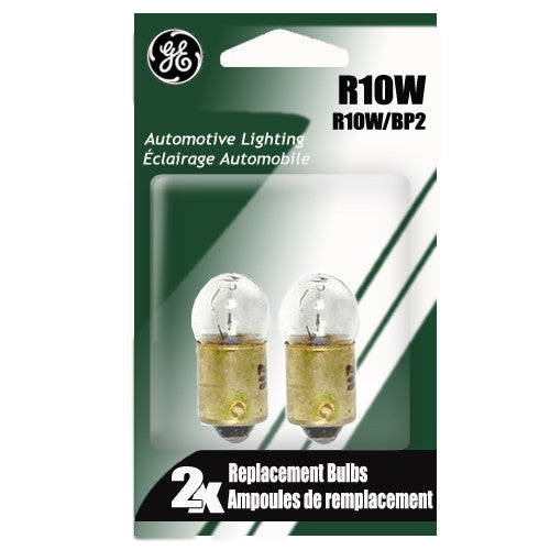 GE R10W 10w 13.5v G6 Automotive lamp - 2 Bulbs