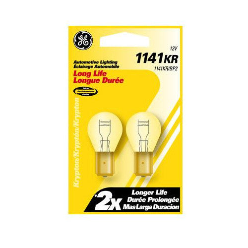 GE  1141 LL - Long Life 18w 12.8v S8 Automotive Lamp - 2 Bulbs