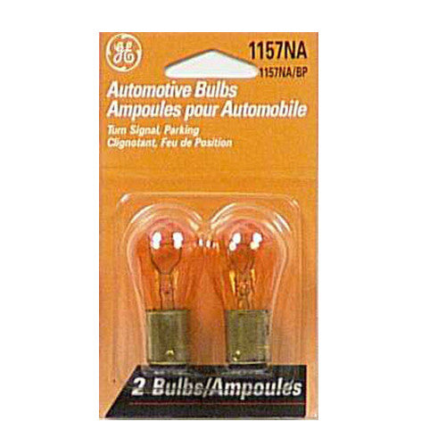GE 1157 NA - Amber 27w 12.8v S8 Automotive lamp - 2 Bulbs