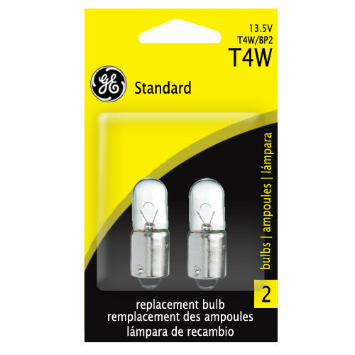 GE T4W 4w 13.5v T2.75 Ba9s Automotive lamp - 2 Bulbs
