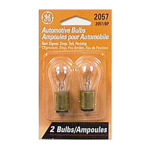 2Pk - GE 12296 2057 /BP2 - 27w 12.8v BAY15d S8 C-6 Automotive Lamp