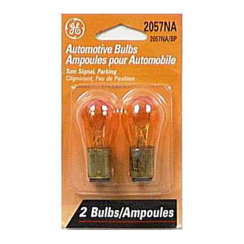 GE 12312 2057 NA/BP2 - Amber 27w 12.8v S8 BAY15d C-6 Automotive lamp - 2 Bulbs