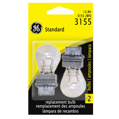 GE  3155 - 20w 12.8v S8 Aircraft, Automotive Low Voltage Lamp - 2 Bulbs