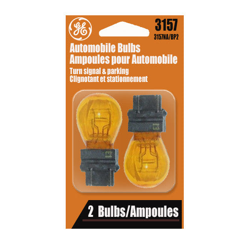 GE  3157 NA - Amber 27w 12.8v S8 Automotive lamp - 2 Bulbs