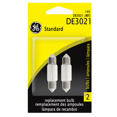 GE DE3021 - 3w 14v T2.25 Festoon Automotive Lamp - 2 Bulbs