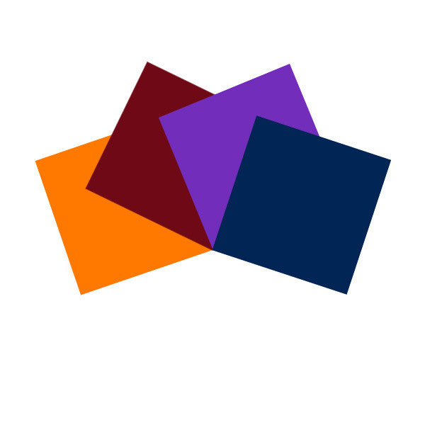 4 pcs Pre-Cut Gel Sheets 10x10in Amber, Medium Red, Medium Lavender, Congo Blue