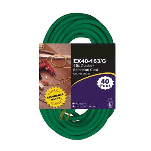 EX20-16/3 Heavy Duty Green 20 foot Extension Cord
