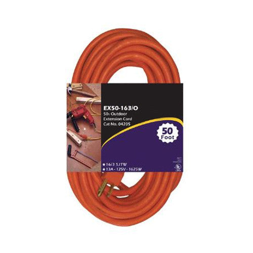 SUNLITE EX25-14/3 TT Tri Tap Orange 25 foot Extension Cord