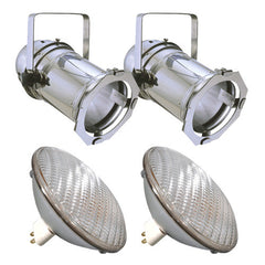 2 pcs. PAR64S + 2 pcs. BulbAmerica 500PAR64 MFL Bulbs PD