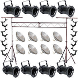8 Black Par Can 64 1000w Par64 Vnsp O Clamp Truss