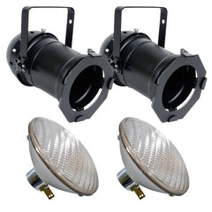 2 pcs. PAR46B + 2 pcs. BulbAmerica 200PAR46 NSP Bulbs PD