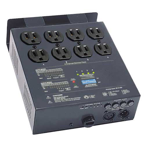 4 CH Double Output Analog DMX Dimmer Pack for Stage Lighting